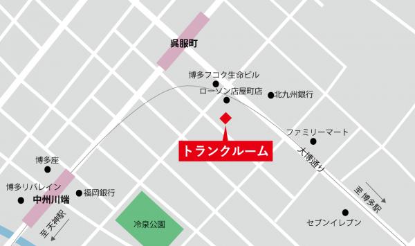 トランクルーム地図