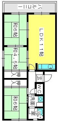 筑紫ビル / 401号室間取り