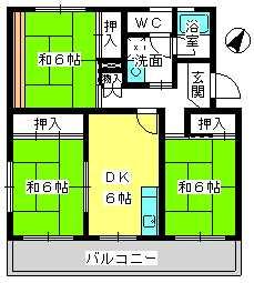 コーポラス梅津 / 301号室間取り
