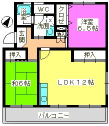 コーポラス梅津 / 305号室間取り