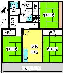 コーポラス梅津 / 402号室間取り