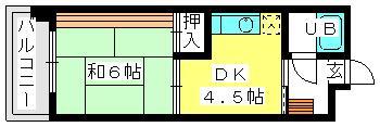 柴田ビル / 302号室間取り