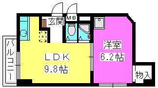 柴田ビル / 303号室間取り