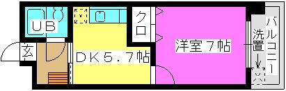 柴田ビル / 305号室間取り