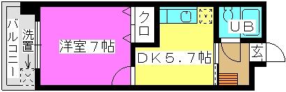 柴田ビル / 306号室間取り