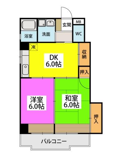 駅東レジデンス / 201号室間取り