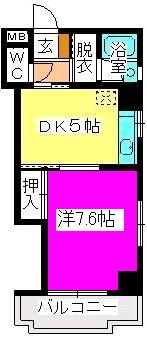 駅東レジデンス / 202号室間取り