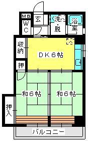 駅東レジデンス / 203号室間取り