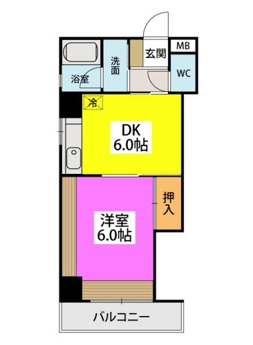 駅東レジデンス / 305号室間取り