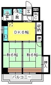 駅東レジデンス / 401号室間取り