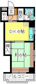 駅東レジデンス / 402号室間取り