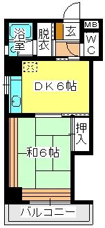 駅東レジデンス / 405号室間取り