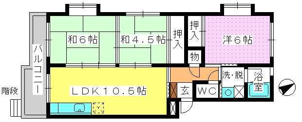 アベニュー88 / 105号室間取り