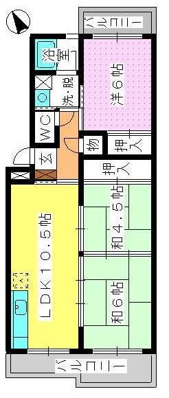 アベニュー88 / 203号室間取り