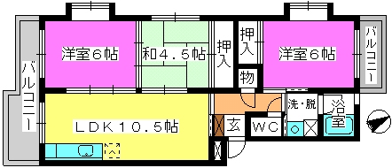アベニュー88 / 205号室間取り