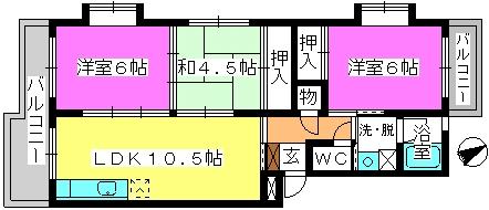 アベニュー88 / 305号室間取り