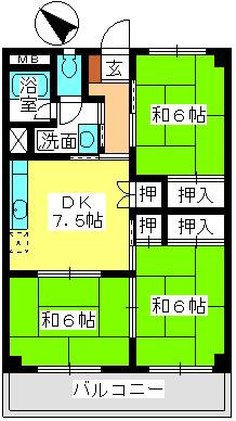本園ビル / 201号室間取り