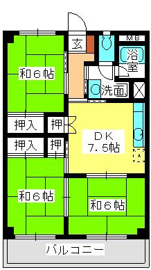 本園ビル / 203号室間取り