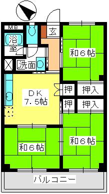 本園ビル / 302号室間取り