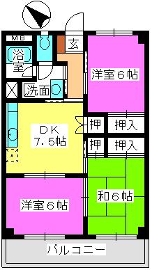 本園ビル / 401号室間取り