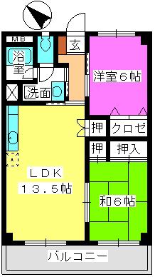 本園ビル / 405号室間取り