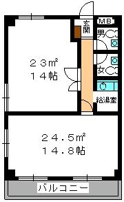 本園ビル / 206号室間取り