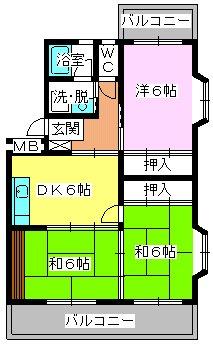 エクセレント古田 / 201号室間取り