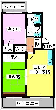 エクセレント古田 / 202号室間取り