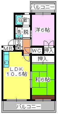 エクセレント古田 / 203号室間取り
