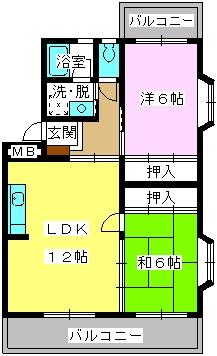 エクセレント古田 / 401号室間取り