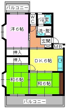 エクセレント古田 / 405号室間取り