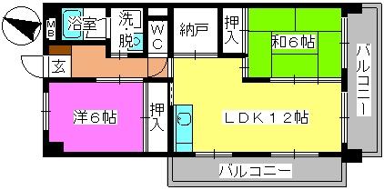 コープセンタービレッジ / 201号室間取り