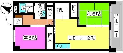 コープセンタービレッジ / 203号室間取り