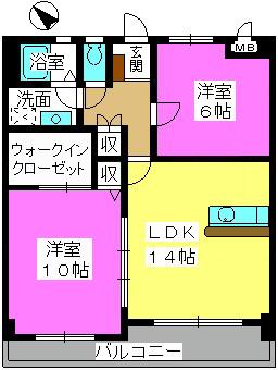 サン・ビィーム吉塚 / 101号室間取り