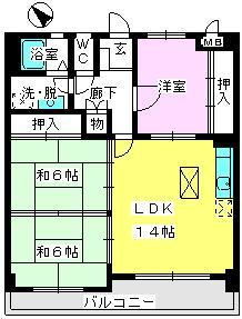 サン・ビィーム吉塚 / 102号室間取り