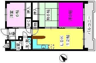 エスポワール空港通り / 402号室間取り