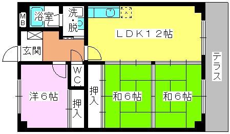 エクセレント田口 / 103号室間取り