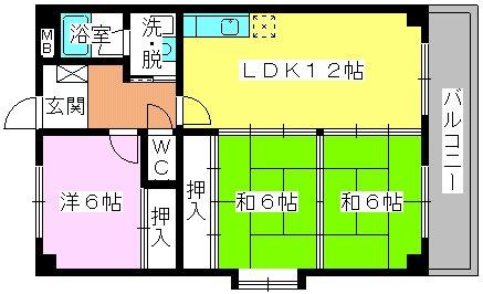 エクセレント田口 / 201号室間取り