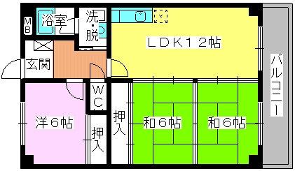エクセレント田口 / 203号室間取り