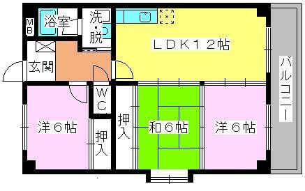 エクセレント田口 / 301号室間取り