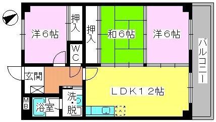 エクセレント田口 / 302号室間取り