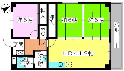 エクセレント田口 / 305号室間取り