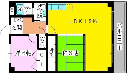 エクセレント田口 / 403号室間取り
