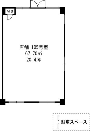エクセレント田口 / 105号室間取り