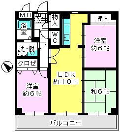 ソフィア'92 / 302号室間取り