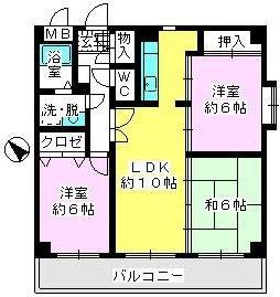 ソフィア'92 / 403号室間取り
