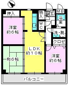 ソフィア'92 / 601号室間取り