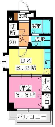 セトル吉塚 / 405号室間取り