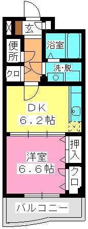 セトル吉塚 / 502号室間取り