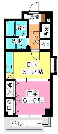 セトル吉塚 / 601号室間取り